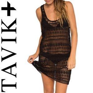 NWT: TAVIK Black United Crochet Tank Dress Coverup